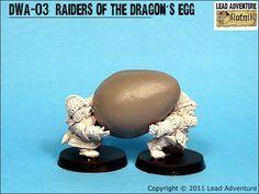 Raiders of the Dragon Egg Lead Adventure, Dragon Egg, Raiders, Miniatures, Minis