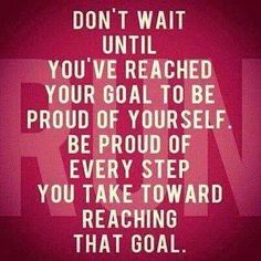Be proud of every step you take toward reaching you goal! Sign up for the Skinny Ms. newsletter and never miss out on fitness tips or healthy recipes from Skinny Ms. #cleaneating #fitness