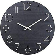 GANADA 12Zoll Wanduhr Vintage Wanduhr Holz Wanduhr Lautlos Für Wohnzimmer,  Küche, Büro Und Schlafzimmer