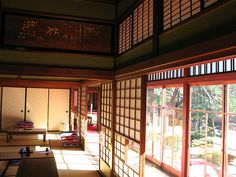 Japanese old style house interior design / 和室(わしつ)の内装(ないそう) by TANAKA Juuyoh (田中十洋), via Flickr