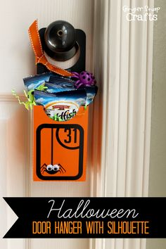 Halloween Door Hanger with Silhouette Chipboard {tutorial} plus a HUGE Silhouette Promotion & a Silhouette Portrait™ Giveaway - Ginger Snap ...