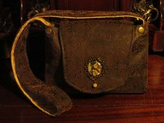 Your place to buy and sell all things handmade Steampunk Fashion, Victorian Fashion, Gibson Girl, Checkbook Cover, Brass Hardware, Leather Bags, Body Bag, Old World, Shoulder Bag