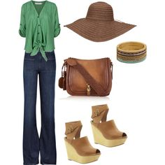 70s inspired. I could NEVER where those shoes though. I'd probs break my neck. Love everything else.