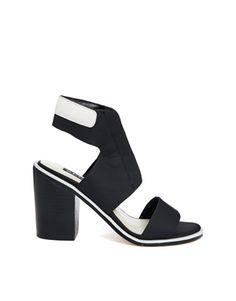 Enlarge Senso Riley I Black/White Heeled Sandals