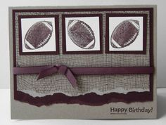 Stampin Up Just Football Cards and Paper Crafts at Splitcoaststampers
