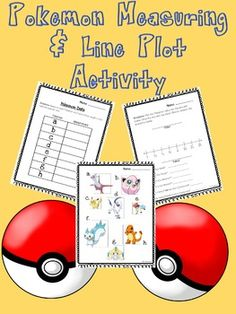 Whats more enjoyable than practicing a math concept with something youre passionate about? I dont know about you, but nearly my entire class is obsessed with Pokemon! In this fun packet, you will find:1) Data recording sheet2) Pokemon measuring sheet3) Line plot sheet with questions 4) Answer keys.