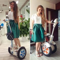 Airwheel electric self-balancing scooters have the characteristics of green environmental protection, and can bring it with you.