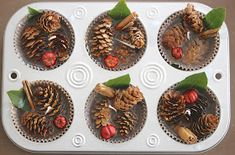 Rooted In Thyme: ~Holiday Wax Fire Starters and Simple & Sweet Fridays Pine Cone Crafts, Christmas Projects, Holiday Crafts, Large Christmas Baubles, Christmas Fun, Pine Cone Decorations, Christmas Decorations, Pinecone Firestarters, Homemade Fire Starters
