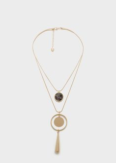 Mixed chain necklace | MANGO