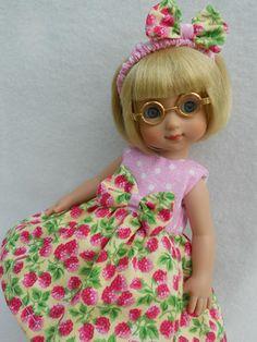 """BERRY POLKA DOT Doll Dress For Ann Estelle 10"""" Tonner"""