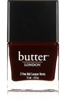 Butter London Nail Polish - La Moss   NET-A-PORTER... I love this vampy nail color, and it is only $15.00. Great deal for Butter London!