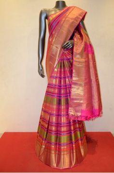Contemporary Meenakari Zari Brocade Bridal Kanjeevaram Silk Saree Product Code: AC202360