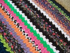 Rag Rug Large Colorful Modern Design Twined by HighForestCrafts, $249.00