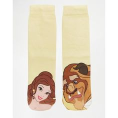ASOS Disney Beauty And The Beast Ankle Socks ($5.26) ❤ liked on Polyvore featuring intimates, hosiery, socks, multi, patterned hosiery, patterned socks, patterned ankle socks, asos socks and ankle socks