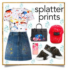 """""""Splatter prints 🎨"""" by xanniee on Polyvore featuring Loeffler Randall, Alice + Olivia, Yves Saint Laurent and Casetify"""