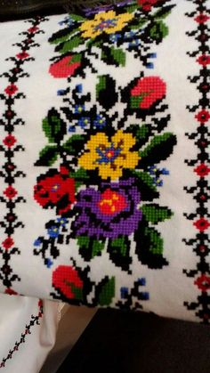 Discover thousands of images about Cross Stitch Art, Cross Stitch Borders, Cross Stitch Flowers, Cross Stitching, Cross Stitch Patterns, Palestinian Embroidery, Embroidered Clothes, Baby Sewing, Diy And Crafts