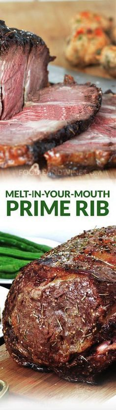 No-fail, Melt in Your Mouth Prime Rib Recipe filled with all your favorite spices- garlic, rosemary, onion and more. Make your Christmas Meal a memorable one.