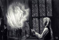 "Siddharth Mamidi (@siddharthmamidi) on Instagram: ""Patronus charm #lunalovegood #harrypotter #digitalart #patronus #blackandwhite #sketch "" Luna Lovegood, Fantastic Beasts, Hogwarts, Digital Art, Harry Potter, Charmed, Instagram Posts, Painting, Fictional Characters"