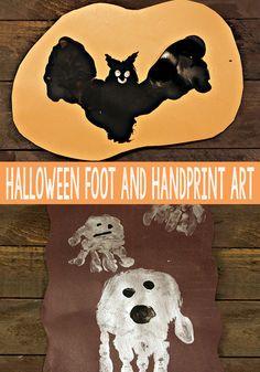 Halloween Handprint and Footprint Art - Easy Peasy and Fun