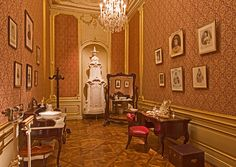 "The dressing room of Empress Elisabeth (aka ""Sisi"") – find out more about Empress Elisabeth's beauty care on a tour through the palace. Royal Residence, Historical Monuments, Present Day, Dressing Room, Things To Know, Art And Architecture, Austria, Mansions, Vienna"