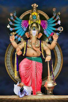 Krishna Hindu, Shree Ganesh, Durga, Ganesha Pictures, Ganesh Images, Ganesh Idol, Ganesha Art, Ganesh Bhagwan, Ganesh Chaturthi Images