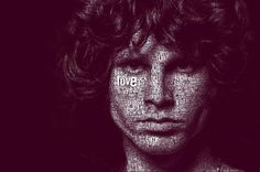 the doors jim morrison typographic portrait juan o James Jim, Typography Portrait, The Doors Jim Morrison, Mobile Art, Girls Time, Own Quotes, Magic Art, Before Us, People