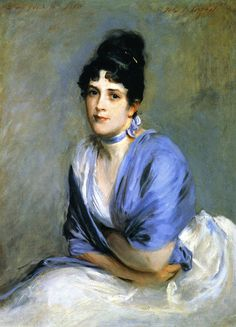 The Woman Gallery - Mrs. Frank Miller by John Singer Sargent