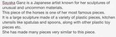 My opinion of Sayaka Ganz, and one of her plastic pieces. Comparative study
