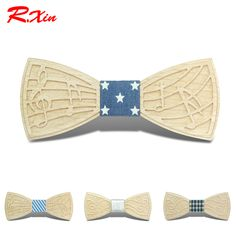 New Design Formal Commercial Wooden Bow Tie Male Solid Marriage Bow Ties For Men Women Wedding Party Butterfly Cravat Wood Tie