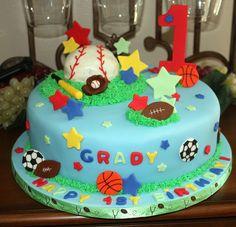 First Birthday Sports Cake by brucakes, via Flickr