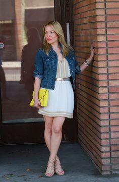 Milly Dress, PD&C Denim, Zara Heels
