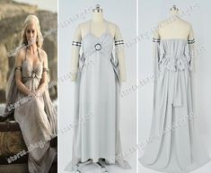 Game of Thrones Daenerys Targaryen Mother of Dragons Cosplay Cos Costume Dress