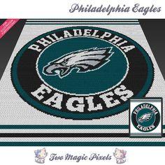 Philadelphia Eagles c2c graph crochet pattern by TwoMagicPixels