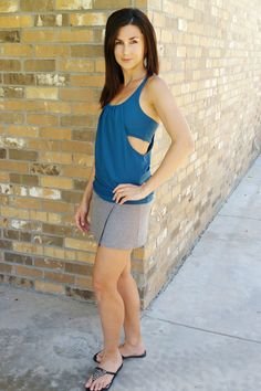 The Agility Tank and Dress is a PDF sewing pattern modeled after our favorite…