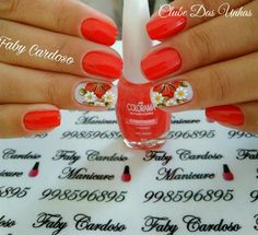 Unhas decoradas em vermelho Nail Designs, Nail Polish, Hair Beauty, Nail Art, Nails, Floral, Beautiful, Ideas, Nail Art Flowers