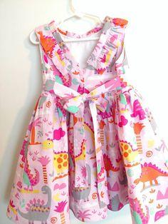fbdd8e1a Dinosaur dress, girls dinosaur dress, pink dress, dinosaur dress for girls,  toddler dinosaur dress, dinosaur dress 4t, girly dino dress