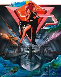 Directed by Lewis Gilbert. With Roger Moore, Barbara Bach, Curd Jürgens, Richard Kiel. James Bond investigates the hijacking of British and Russian submarines carrying nuclear warheads with the help of a KGB agent whose lover he killed. James Bond Movie Posters, James Bond Movies, Movie Poster Art, Roger Moore, This Is Us Movie, I Movie, Movie Stars, Norman Rockwell, Barbara Bach