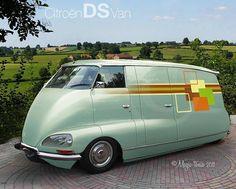 Citroën DS gephotoshopt