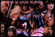 """""""I'm in your blood. You know you can't fight me.""""   Xena warrior princess and Ares God of war  shipping  quote 'The Xena Scrolls' s02ep10  Lucy Lawless Kevin Smith"""