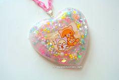 Pastel Cute Rilakkuma Kitten Paw Heart by NerdyLittleSecrets