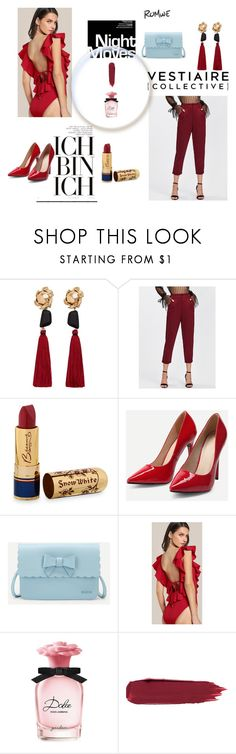 """""""Romwe 8"""" by medinicab ❤ liked on Polyvore featuring MANGO, Bésame and Dolce&Gabbana"""
