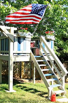 MUST see DIY kids playhouse/clubhouse @Carmel (@ Our Fifth House) Phillips . I want one of these for me!