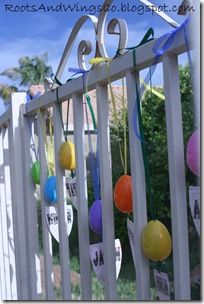 Unique Easter Egg Hunt Ideas - Hanging Eggs, Buried Eggs and fun filler ideas. @Roots and Wings Co.