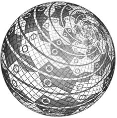Sphere Surface with Fishes - M.C. Escher, 1958