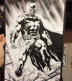Batman print inks by Jason Fabok, in Jason Fabok's Commissions Comic Art Gallery Room Batman Poster, Batman Artwork, Batman Comic Art, Batman Vs Superman, Marvel Dc Comics, Batman Suit, Batman Drawing, Drawing Superheroes, Jim Lee Batman