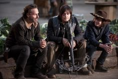 BTS The Walking Dead - Carl, Rick, and Daryl