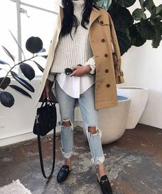 chic casual spring outfit idea for women in their 20s and 30s, loving this spring layers, chic sprig outfit idea for young women