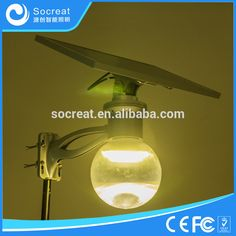 LED solar garden light, 3000K color temperature, warm white, sales1@socreat.com