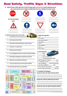 5 Kindergarten Direction Worksheets Road safety traffic signs and directions worksheet Free √ Kindergarten Direction Worksheets . Road Safety Traffic Signs and Directions Worksheet Free in Reading Worksheets, Vocabulary Worksheets, Kindergarten Worksheets, Worksheets For Kids, Comprehension Worksheets, Reading Comprehension, Road Safety Signs, Safety Rules, Free Printable Worksheets