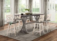 Marlon Counter Height Dining Table by Gracie Oaks – StellarHeart Counter Height Dining Table, Dining Nook, Dining Table In Kitchen, Wooden Dining Set, Solid Wood Dining Table, Upholstered Dining Chairs, Dining Furniture, Contemporary Dining Table, Drop Leaf Table